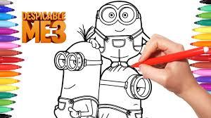 despicable me 3 coloring pages how to draw minions minions