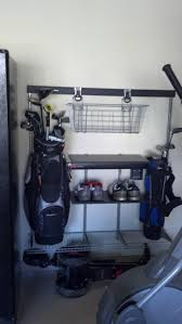 Garage Golf Bag Organizer - client asked for a golf station in their garage every product i