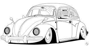 vw beetle outline