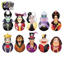 disney halloween figurines blip zag toys disney villains original minis rockerz series 1