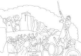 free bible joshua 1 coloring pages bible class conquest