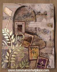 themed mailbox postage themed mixed media mailbox with real postage sts