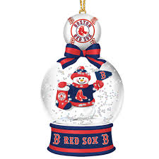 boston sox snow globe ornaments the danbury mint