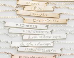 personalized name bar necklace bar necklaces gold dainty necklace personalized by layeredandlong