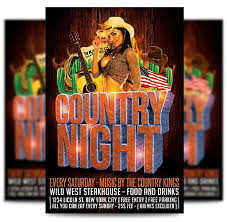 template flyer country free country music flyer template flyertemplatestore