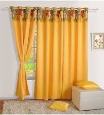 Yellow Faux Silk Curtains Solid Color Window Curtains Buy Solid Color Window Curtains