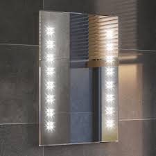 Bathroom Mirror Heated by Modern Backlit Slimline Illuminated Bathroom Mirrors With Light