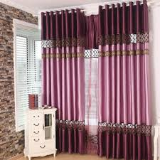 Lace Trim Curtains Privacy Curtains