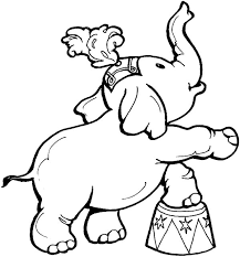 circus elephant in front of circus tent coloring pages circus