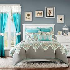 Green And Gray Comforter Bedding Set Unbelievable Teal And Grey Comforter Sets Awful Teal