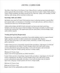 sample cashier job dutie 7 documents in word pdf