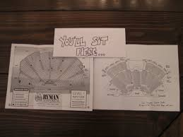 Grand Ole Opry Floor Plan March 2012