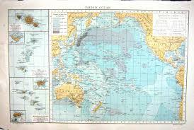 Tahiti Map World by 26 Print Map Pacific Ocean Tahiti Tongo Marquesas Tuscarora Deep