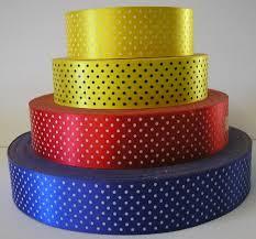 polka dot ribbon acetate satin polka dot printed ribbon available by the metre