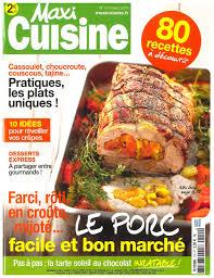 revue cuisine plaisirs sucrés proposés par le magazine maxi cuisine le