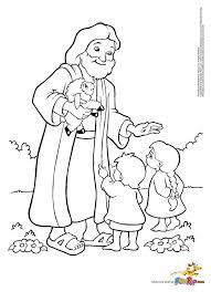 jesus kids coloring free printable coloring pages