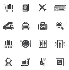 Home Decor Icon Airport Icon Set Of Airplane Suitcase Security Check Lounge