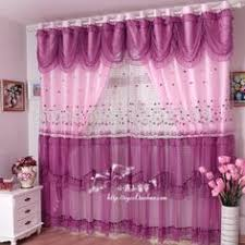 Pink And Purple Curtains New Fashion Quality Luxury Lace Curtains Set The Finished