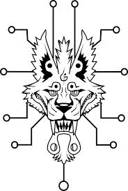 tech wolf tattoo by the monstrum on deviantart