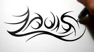 tatoo design tribal drawing tribal name tattoo design louis youtube