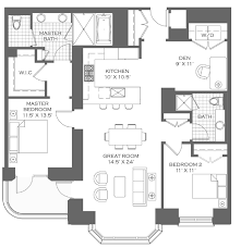 Master Bedroom Suites Floor Plans Lincoln Park 2520 Floor Plans Downtown Chicago Real Estate