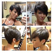 hairstyles short on an angle towards face and back short hair cut all angles long bangs hair color and makeover