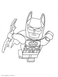 lego batman is fighting coloring page