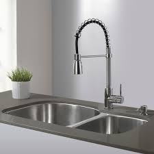 kraus kitchen faucets kraus single lever modern spiral pull out kitchen faucet kitchen