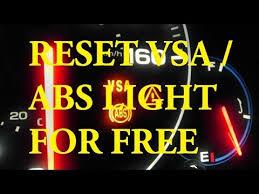vsa light honda accord 2009 best method acura honda how to reset abs light vsa light free
