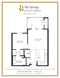 senior apartment floor plans the springs at greer gardens