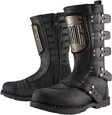 women s black motorcycle boots icon 1000 elsinore hp boot black products ride icon helmet