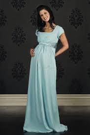 modest empire square column bridesmaid dress for maternity for