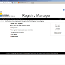 bridal registry website gift registryworks marcole gift registry software