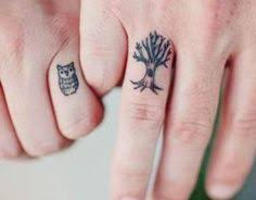 owl and tree owl tree tattoos for couples