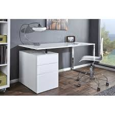 grand bureau blanc s duisant grand bureau blanc design laque avec 3 tiroirs compact