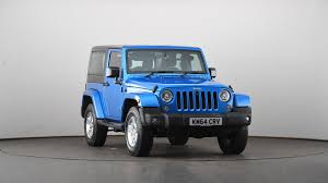blue jeep wrangler used jeep wrangler 2 8 crd sahara 2dr auto blue km64crv