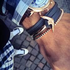 anchor leather bracelet man images Men 39 s anchor bracelet bangle titanium steel jewelry cuff jpg