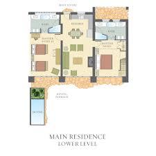 contemporary resort floor plan 2 bedroom hotel villa castello di casole