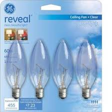 ceiling fan light bulbs general electric 60 watt reveal blunt tip ceiling fan light bulbs
