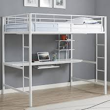 White Metal Bunk Bed Size White Metal Loft Bed Workstation Steel Study Loft With
