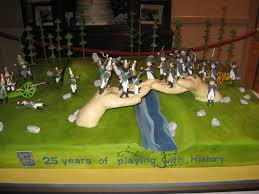 war cakes historicon s 25th anniversary cake charge civil war wargaming