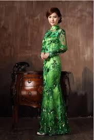 asia chinese wearing a cheongsam a traditional dress