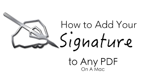 How To Attach Photo To Resume How To Add You Signature To Any Pdf Document On The Mac Youtube