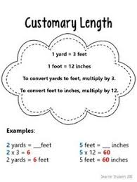 converting units of customary length practice worksheets math