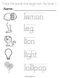 letter l words format