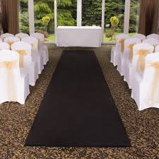 black aisle runner plain black wedding aisle vip event carpet runner at carpet runners uk