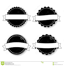 set of the badges templates with ribbons stock vector image