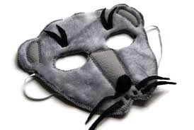 Ferret Costumes Halloween Weasel Mask Ferret Mask Woodland Animal Mask Animal Fur
