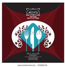 restaurant menu card design template paper stock vector 678966841