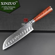 xinzuo 7 inch japanese vg 10 damascus steel kitchen knives sharp - Japanese Folded Steel Kitchen Knives